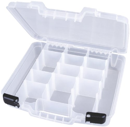 ArtBin Quick View Deep Base Carrying Case, Full Depth Divided Interior, Translucent Clear, 6961AB