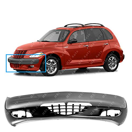 (MBI AUTO - Primered, Front Bumper Cover Fascia for 2001-2004 Chrysler PT Cruiser 01-04, CH1000340 CH1000293)