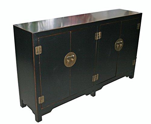 Black Wooden Storage Cabinet Model 9041-B