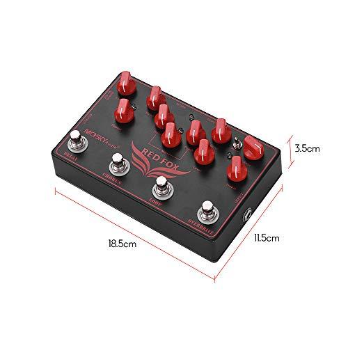 Muslady MOSKY RED FOX 4-en-1 Efectos de guitarra eléctrica Pedal Delay + Chorus + Loop + Overdrive: Amazon.es: Instrumentos musicales