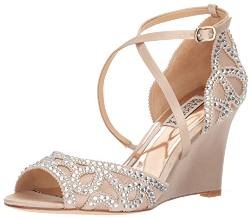Badgley Mischka Women's Winter Wedge Sandal, Nude, 9.5 M US by Badgley Mischka