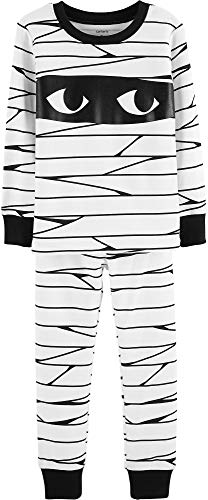 Carter's Toddler Boys 2-Piece Halloween Pajamas (3T, Mummy)]()
