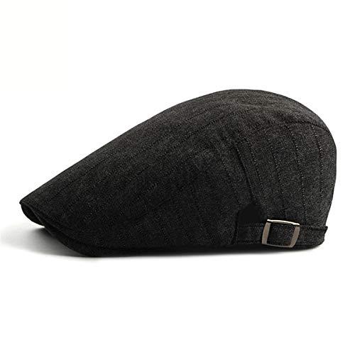 Moda B Boina GLLH de qin de C Sombrero Rayas Hombres algodón Delantero Sombreros a para Simple Gorra Sombrero de hat FTw7aqF1