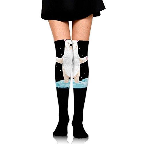 Cute Polar Bear Baby Womens Girls Sexy Over Knee Leg High Boot Socks Girls Leggings