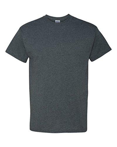 Chiné T Manches À Homme Foncé Gildan shirt Courtes Pour 44qra0W