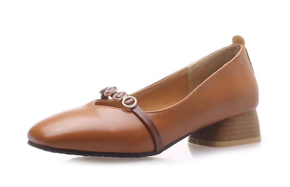 GLTER Femmes Square Head Court Chaussures 2019 Printemps et Automne Nouveau Confortable Bas-Talon Chaussures Taille 30-46