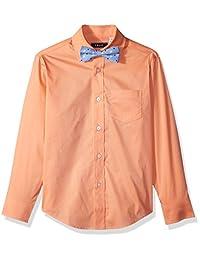Camisa de vestir de manga larga para niños Izod con pajarita