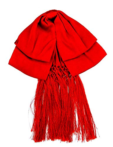 Mexican Artisans Bow tie charro Mexican party costume Color Red, Large