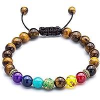 ODN Tiger eye shape Stone Yoga Balancing Reiki Healing Lucky Charm Bracelet Diffuser Bracelet