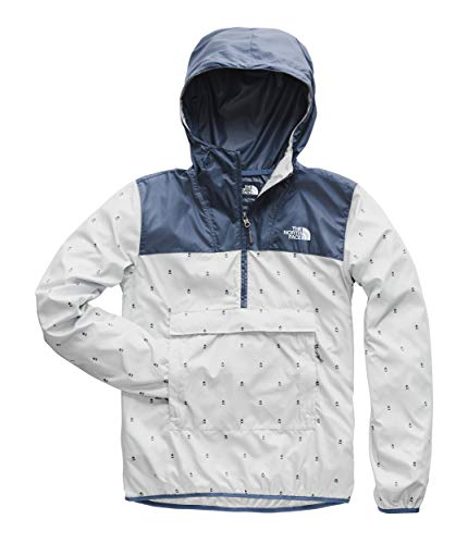 (The North Face Men's Novelty Fanorak, High Rise Grey Campfire Print/Shady Blue, Size XXL)