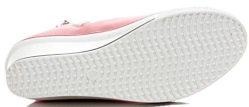 Heel Sneaker Shoes Canvas White2 Casual Pump High Donalworld Women 7tXHxU