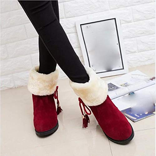 Gyoume Women Snow Boots Winter Ankle Boots Women Shoes Heels Boot Shoes Warm Boots by Gyoume
