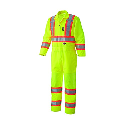 -Vis Traffic Safety Coverall - Yellow/Green (XL) ()
