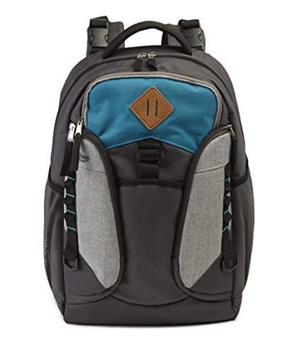 Jeep Diaper Bag (Jeep Adventurers Diaper Bag Backpack - Durable, Roomy, Design - Great for Outdoor Activities Like Hiking, Biking, and Sports - Styled for Men or Women - Grey/Turquoise)