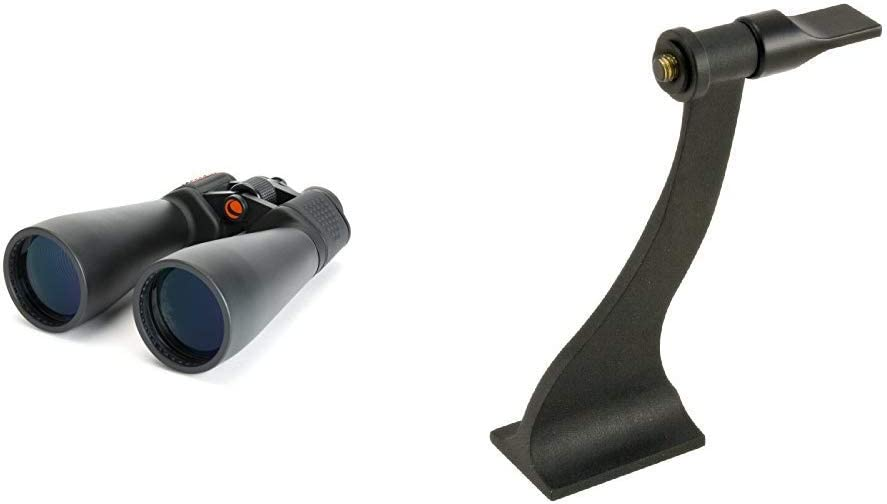 Celestron SkyMaster Giant 15x70 Binoculars with Tripod Adapter with Celestron 93524 Binocular Tripod Adapter (Black)