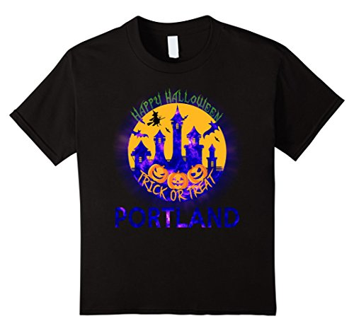 Kids Happy Halloween Trick Or Treat Portland Oregon 2017 T Shirt 4 Black (Halloween Costumes Portland Or)