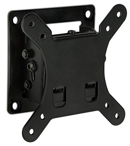 (Mount-It! Tilt TV Wall Mount Bracket 1.7 Inch Low-Profile Design with Quick Release Function, VESA 75 and VESA 100 Compliant, Steel Fits up 32 Inch TVs 30 Lbs Carrying Capacity, Black)