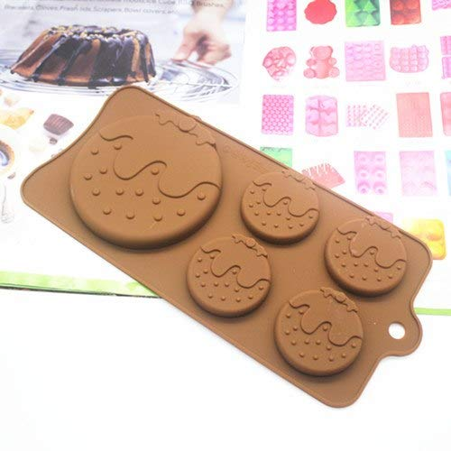 Soap Mold - Wholesale Retail 1 Pcs 5 Hole Round Strawberry Silicone Cake Mold Soap Jelly Pudding - Square Dragonfly Column Round Unicorn Ocean Star Goat Peach Peace Elephant Heart
