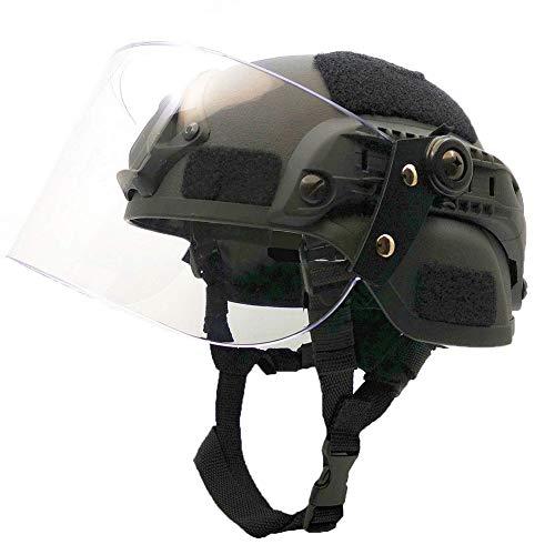 WLXW Casque Tactique de Paintball Airsoft, Casque de Combat Rapide de L'Armée MICH2000, avec Lunettes de Protection… 1