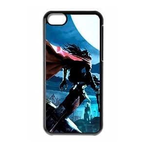 Dirge Of Cerberus Final Fantasy Vii 2 funda iPhone 5c caja funda del teléfono celular del teléfono celular negro cubierta de la caja funda EEECBCAAB14011