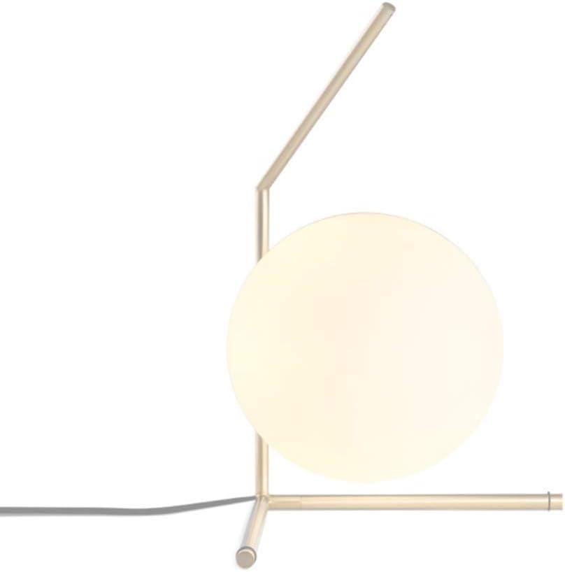 Lámpara de mesa iluminación sala de estar dormitorio lámpara de cabecera una sola cabeza E14 oro bola de hierro forjado lámpara de vidrio con interruptor de botón