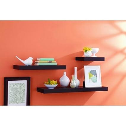 Amazoncom Better Homes And Gardens Floating Shelf 12 Espresso