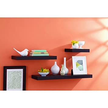 Amazoncom Better Homes and Gardens Floating Shelf 36 Espresso