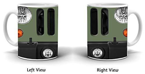 BRGiftShop Customize Your Own SUV Bumper Car Grill Green License Plate 11oz Coffee Mug