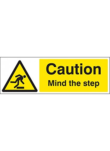Caledonia Signs 58749 Mind The Step Floor Graphic Label, 300 mm x 100 mm Caledonia Signs Ltd