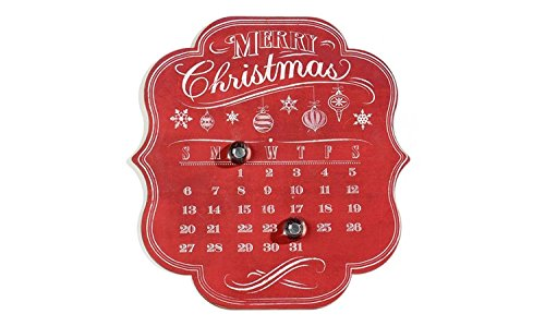 Giftcraft Chalk Talk Magnetic Advent Calendar Wall Decor ()