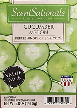 ScentSationals Cucumber Melon Value Pack Scented Wax Cubes 5.0 oz