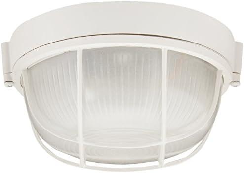 Trans Globe Lighting 41505 WH Outdoor Aria 7 Bulkhead, White