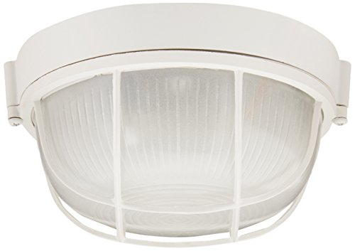 Bulkhead Wall Fixture - Trans Globe Lighting 41505 WH Outdoor Aria 7
