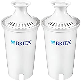 Brita Standard Water Filter, Standard Replacement Filters for Pitchers and Dispensers, BPA Free, 2 Count