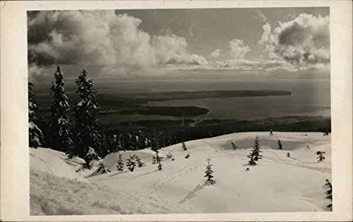 Beautiful View from Snow Capped Mountain Landscapes Original Vintage Postcard