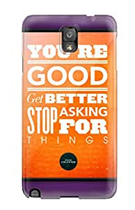 Best Hot Tpu Cover Case For Galaxy/ Note 3 Case Cover Skin - Life Quotes