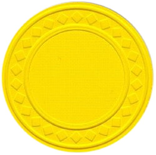 Poker Chips Composite Diamond Clay (Trademark Poker Super Diamond Clay Composite Chips (Set of 100), 8gm, Yellow)
