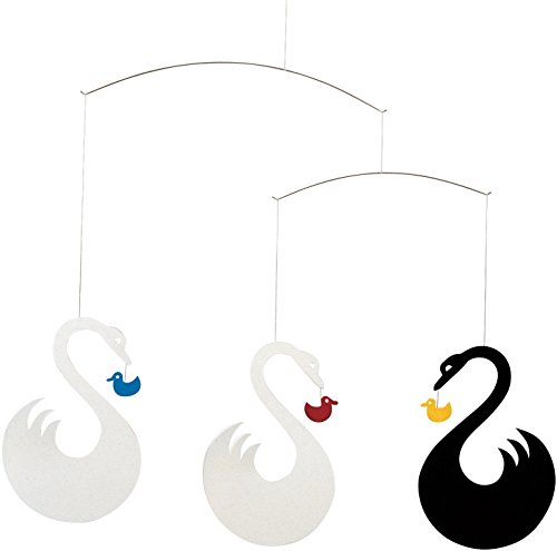 Flensted Mobiles Swan Fantasy Hanging Mobile - 14 Inches Cardboard by Flensted Mobiles