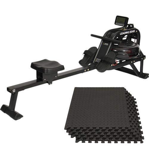 [リーディングエッジ] トレーニング器具 ウォーター ローイングマシン マットセット ブラック LE-WR200/LE-GMT06B   B07SS5VSCJ