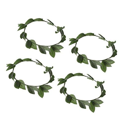 MagiDeal Set of 4 Pieces Greek Roman Goddess Toga Leaves Laurel Wreath Head Band Party Costume Headwear Beach Hair Supplies
