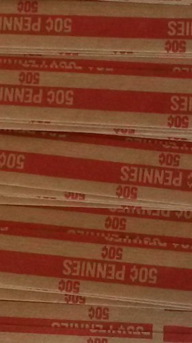 MMF Industries Flat Tubular Coin Wrappers 150 Wrappers Per Order (150 Pennies Coin Wrapper)