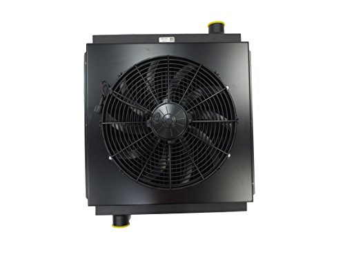 New Mobile Hydraulic Oil Cooler DC12V-35 with 12V Fan & Shroud Replaces Cool-Line D36