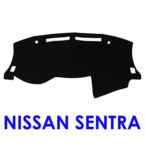 (JIAKANUO Auto Car Dashboard Carpet Dash Board Cover Mat Fit Nissan SENTRA 2013-2018 (Black) MR068)