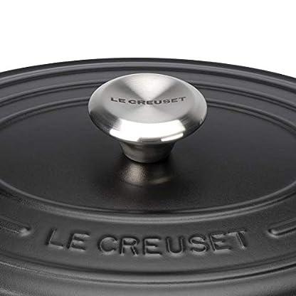 Le Creuset Signature Gusseisen-Bräter mit Deckel, Ø 31 cm, Oval, Für alle Herdarten und Induktion geeignet, Volumen: 6,3 l, 5,705 kg, Schwarz 4