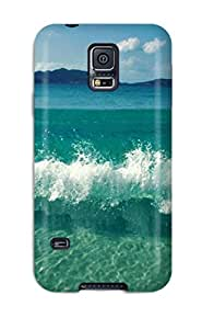 Galaxy S5 Cover Case - Eco-friendly Packaging(waves Clashing Beautiful Blue Ocean Sea Nature Summer)