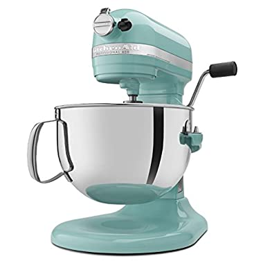 KitchenAid Professional 600 Series KP26M1XER Bowl-Lift Stand Mixer, 6 Quart, Aqua Sky