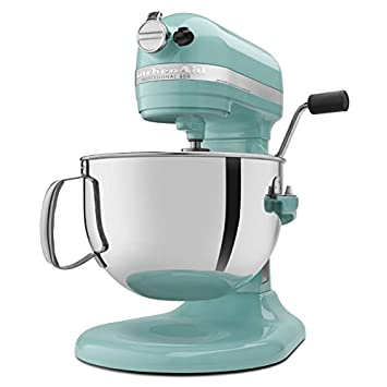 KitchenAid Professional 600 Series KP26M1XER Bowl Lift Stand Mixer, 6 Quart,  Aqua Sky
