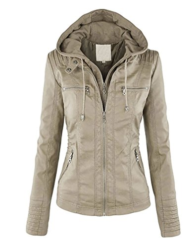 Zipper Albicocca Jacket Felpa Vintage Giacca Cappuccio Ecopelle Invernali Cappotto Donna Minetom Giacche Cardigan 7wqggC