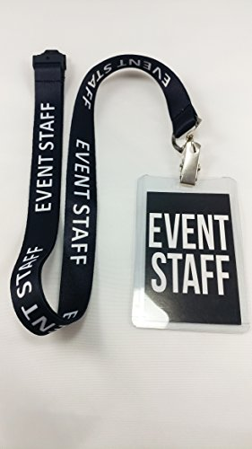 Event Staff Lanyard with Plastic Holder & Card Pass. Great for Parties, Events, Social Occasion (10 Lanyards) for $<!--$24.99-->