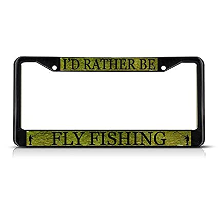 I/'d Rather Be Flying Black License Plate Frame